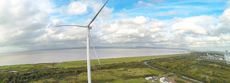 Avonmouth Wind Turbines Slide Photo